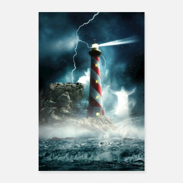 Rain The lighthouse - Poster