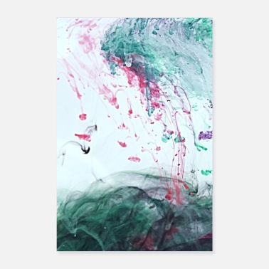 Ocean Ink - Alcohol Ink Abstract Modern - Poster