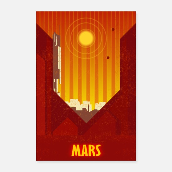 Mars Posters - Mars SciFi - Posters white