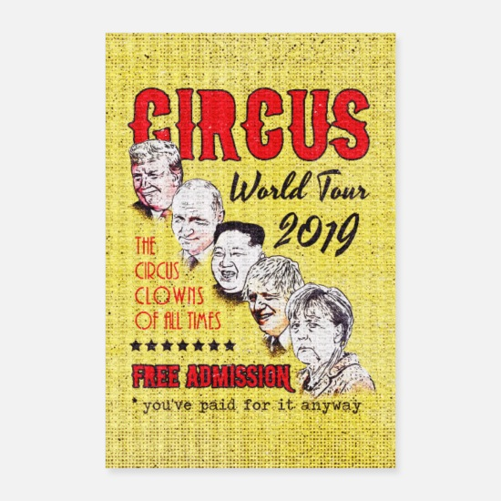 Politik Posters - Politic Circus Clowns World Tour 2019 - Posters hvid