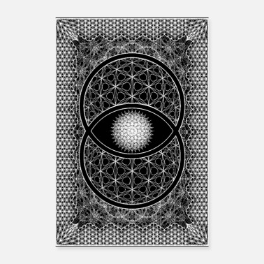 Hippie Vesica Picsis Sacred Geometry Poster - Poster