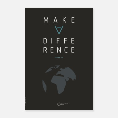 Speziesismus Poster Make A Difference (Earth Edition) - Poster