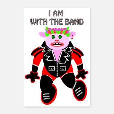 Rocker I AM WITH THE GROUP !! ROCKER PIG - Poster