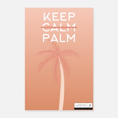 Keep Calm HANDCYCLE Keep Calm Palm - Poster