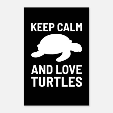 Keep Calm Keep Calm And Love Turtles skilpadde gave - Poster