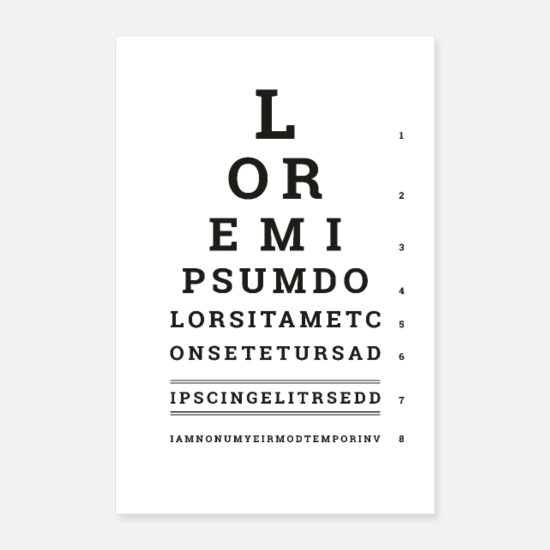 Typo Collection Poster - Poster Lorem Ipsum - Poster bianco