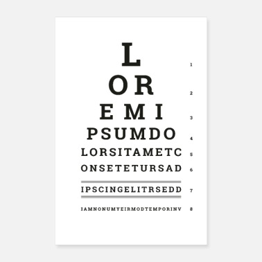 Typo Collection Poster Lorem Ipsum - Poster
