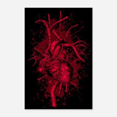 Bloody BLOODY HEART - Poster 24 x 35 (60x90 cm)