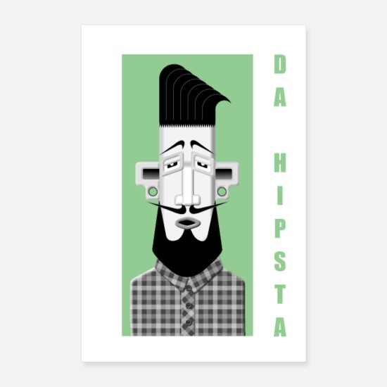 Indie Posters - Hipster No1 - Posters blanc