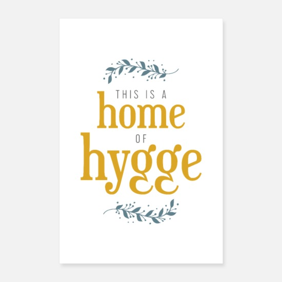 Typografie Poster - This is a home of hygge - Poster Weiß