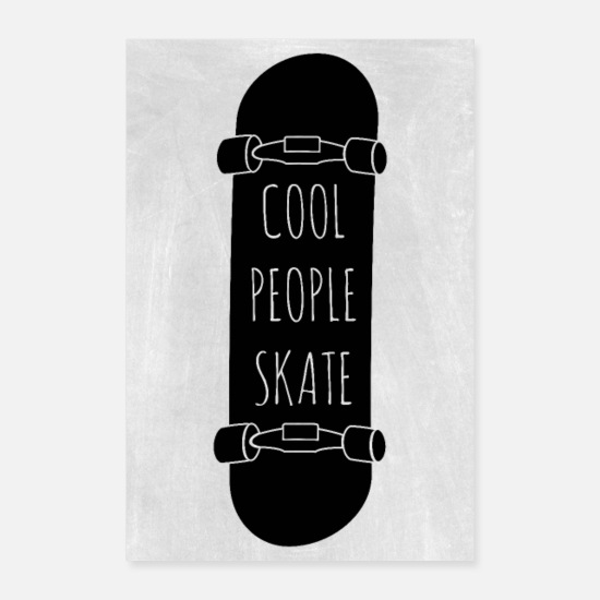 Sport Posters - Les gens cool patinent - Posters blanc