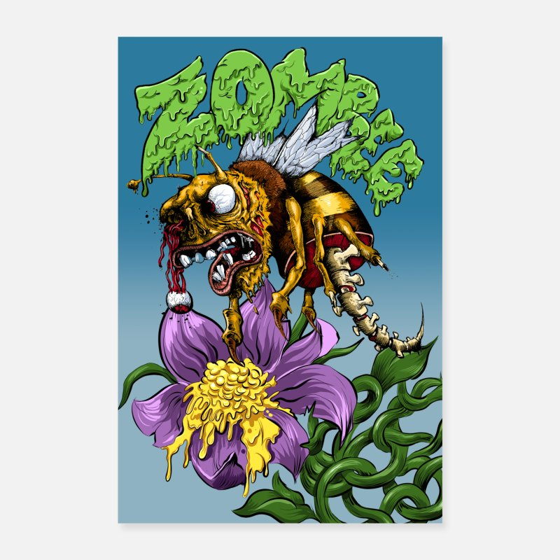 Awesome Posters - Zombee - Posters white