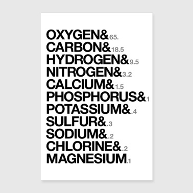 Elements of human body - Poster 60x90 cm