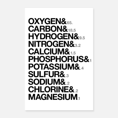 Biologie Elements of human body - Poster 60x90 cm