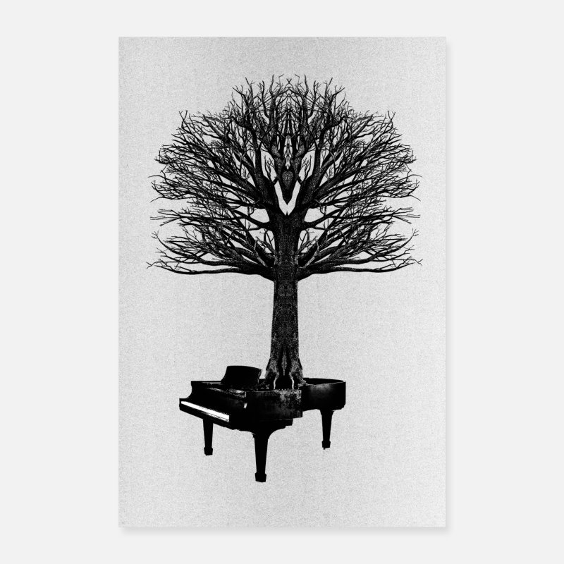 Bestsellers Q4 2018 Posters - pianist - Posters white
