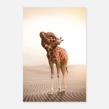 Collection Giraffe with a knot in the throat - Poster