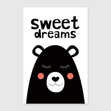 Sweet Dreams - Nalle - Juliste 60x90 cm