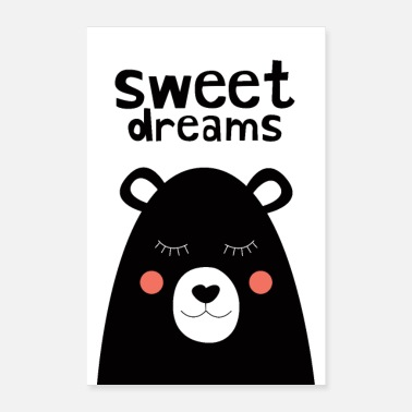Collection For Kids Sweet Dreams - Ours en peluche - Poster 60 x 90 cm