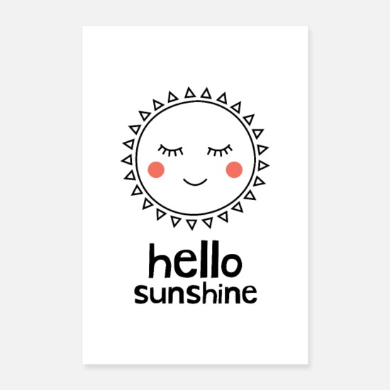 Baby Shower Posters - Hello Sunshine - Posters white