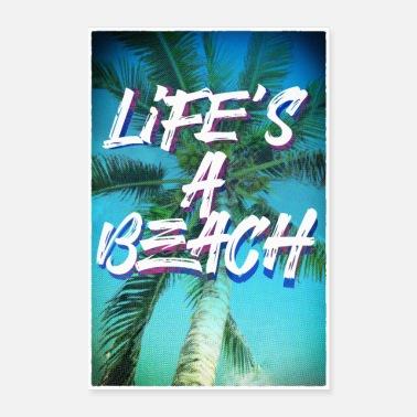 Retirement Life's a beach poster portrait - Poster