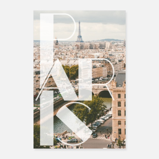 Travel Posters - Paris poster - Posters white