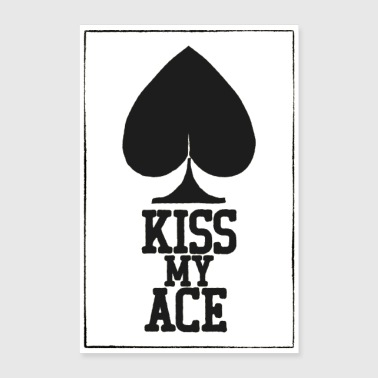 Poker Kiss My Ace Poster - Poster 60x90 cm