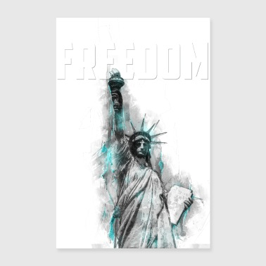 Freedom - Lady Liberty - Poster 24 x 35 (60x90 cm)