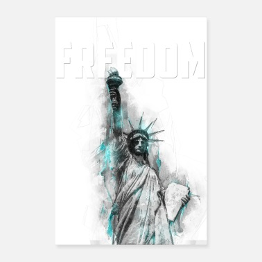 Democracy Freedom - Lady Liberty - Poster 24 x 35 (60x90 cm)