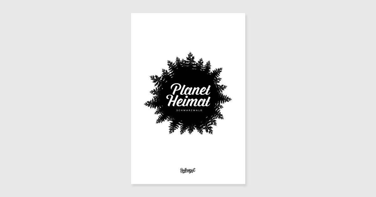 Planet Schwarzwald planet home black forest poster spreadshirt