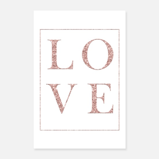 Couples Posters - Glitter Love - Posters white