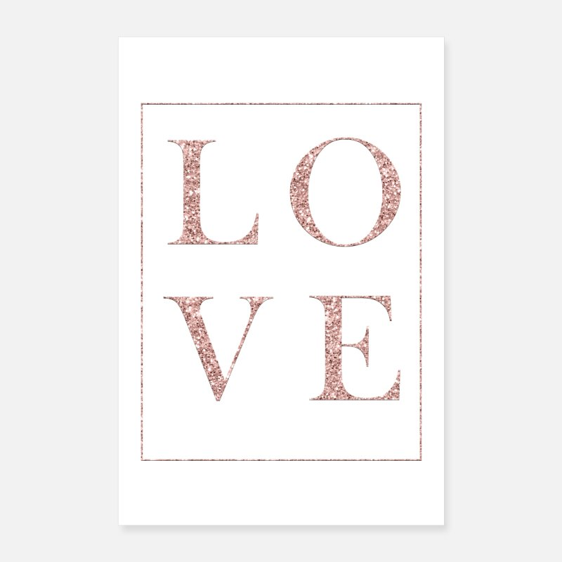 Love Posters - Glitter Love - Posters white