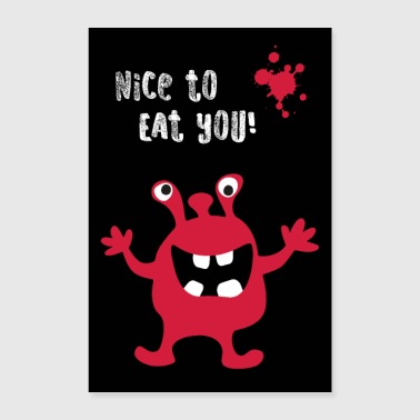 Adult Poster Monster Nice to eat you - Poster 24 x 35 (60x90 cm)