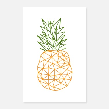 Geometric Pineapple Geometric Style - Poster