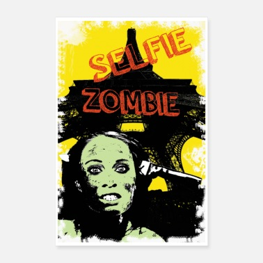 Vacation zombie on vacation - Poster 24 x 35 (60x90 cm)