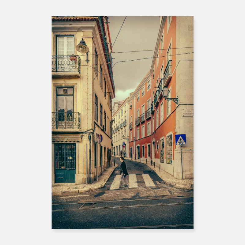 Bestseller Posters - Lisbon Portugal city Impressions Paintings Fado - Posters white