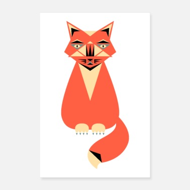 Illustration Katze Illustration - Poster 60x90 cm