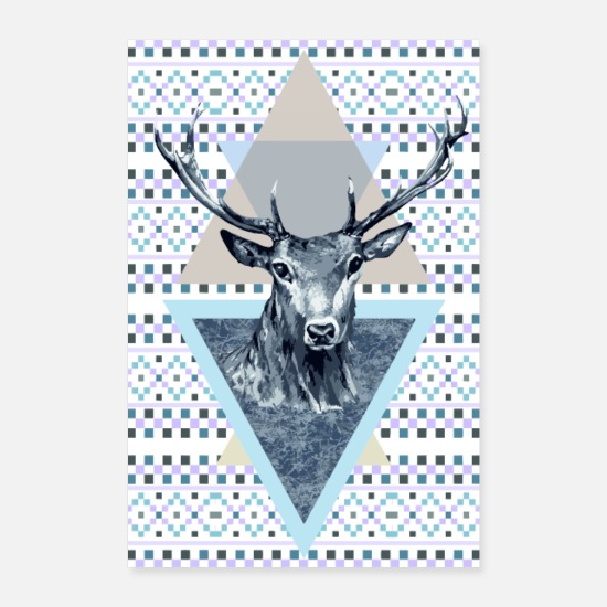 Homedecor Posters - Deer king of the forest - Posters white
