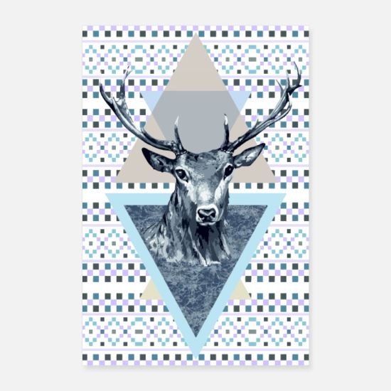 Bestsellers Q4 2018 Posters - Deer king of the forest - Posters white