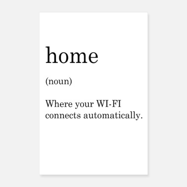 Informatica thuis wifi - Poster 60x90 cm