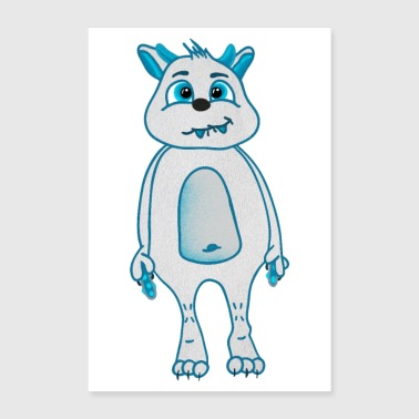 Cute Cookie Monster Kids Decorazione Monster - Poster 60x90 cm