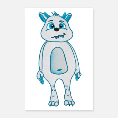 Sisustus Cute Cookie Monster Kids Sisustus Monster - Juliste 60x90 cm