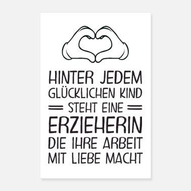 Children Educator - Happy children - Poster 24 x 35 (60x90 cm)