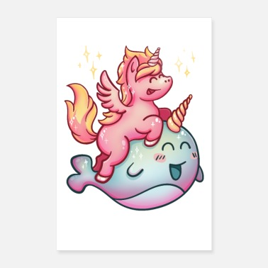 Narwhal Unicorn Narwhal poster - Poster