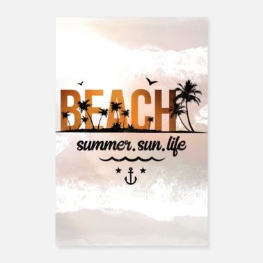 Ibiza Palmiers Affiche Beach Summer - Poster