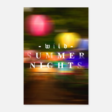 London wild summer nights - Poster 24 x 35 (60x90 cm)