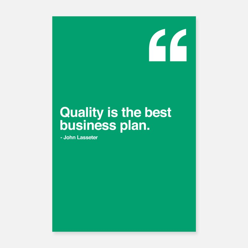 Office Posters - Quality is the best business plan - motivation - Posters white