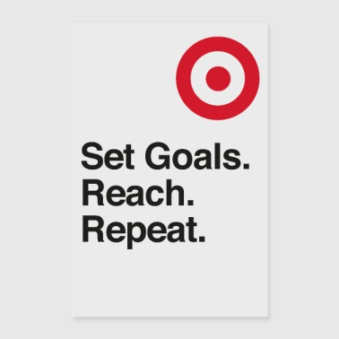 Set Goals. Reach. Repeat. - Motivation - Poster 60x90 cm