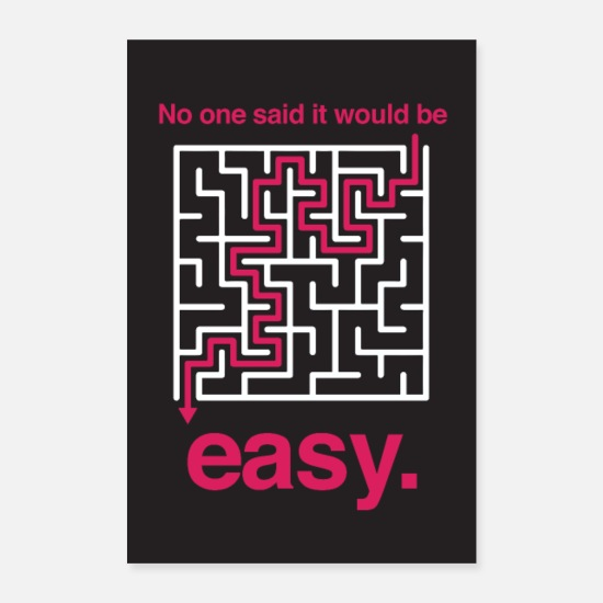 Work Out Posters - No one would be easy - motivation - Posters white