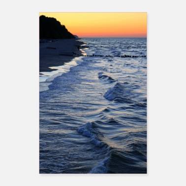 Baltic Sea Sunset on Baltic Sea beach no. 23 - Poster 24 x 35 (60x90 cm)