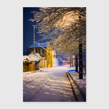 Night snow - Poster 24 x 35 (60x90 cm)